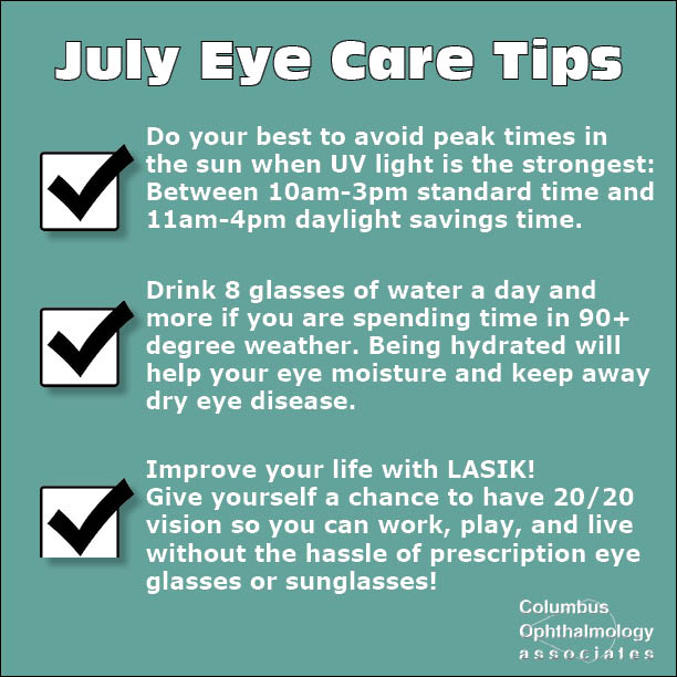 July Eye Care Tips
